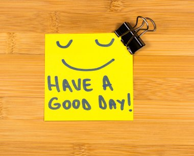 Have a good day sticky note