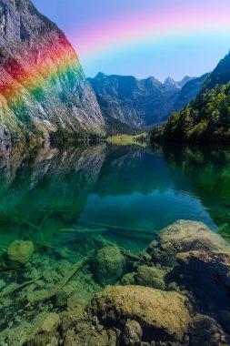 Bight rainbow in the sky