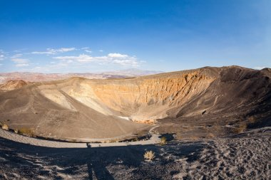 Ubehebe Crater during sunny day