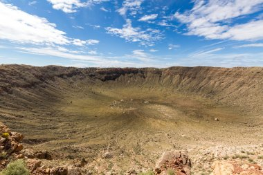 View of the Meteor Crater, Flagstaff