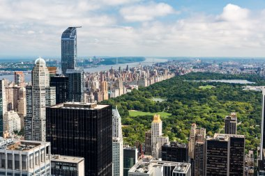 View to Uptown Manhattan with the famous Central Park