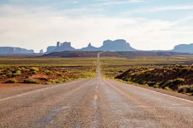 Road near Monument Valley in Utah