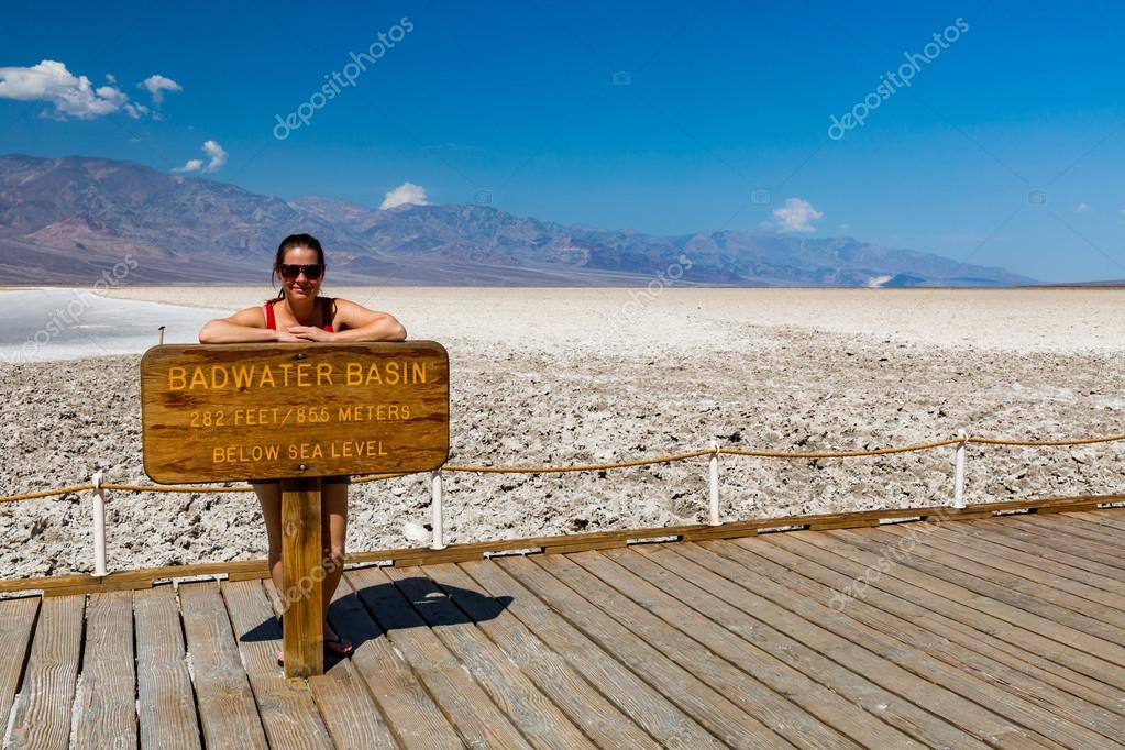 Girl in Badwater Basin, Death Valley National Park