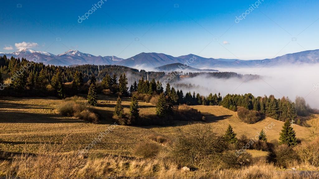 Orava nature overlook from Valaska Dubova