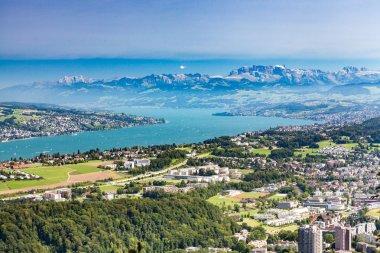 View from Zurich mountain Uetliberg, Switzerland