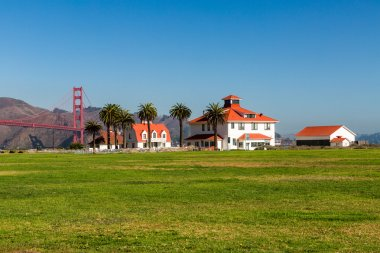 View to the Golden Gate Bridge from Crissy Field Park, San Franc