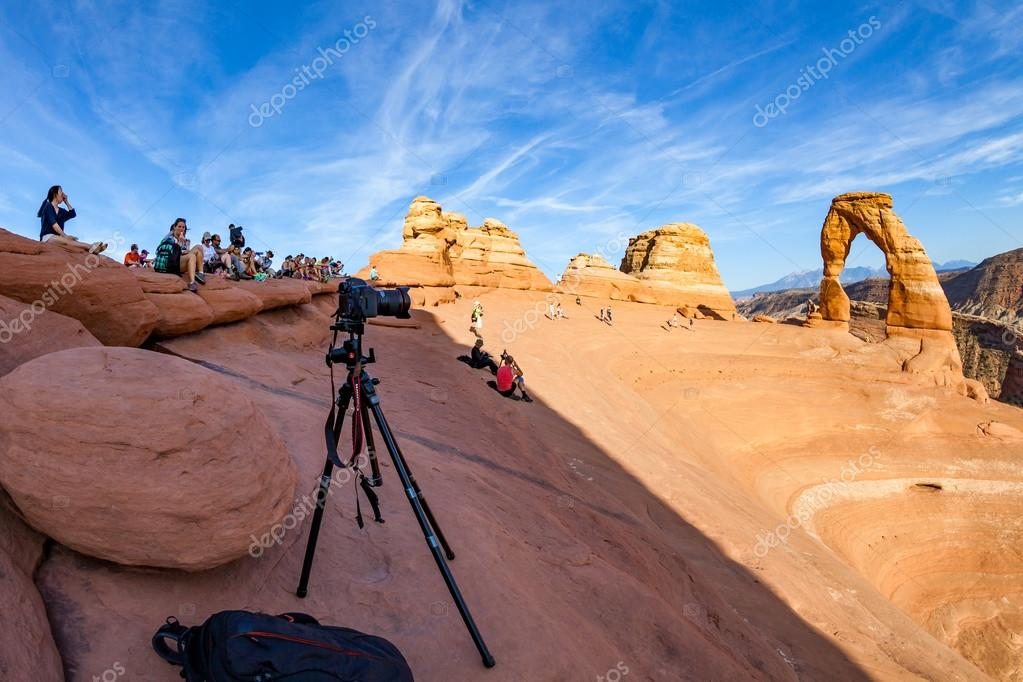 Views of the Delicate Arch in Arches National Park