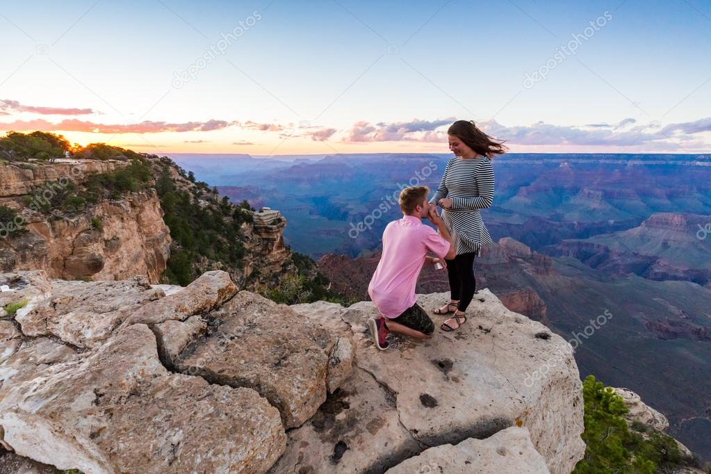 Proposal in Grand Canyon