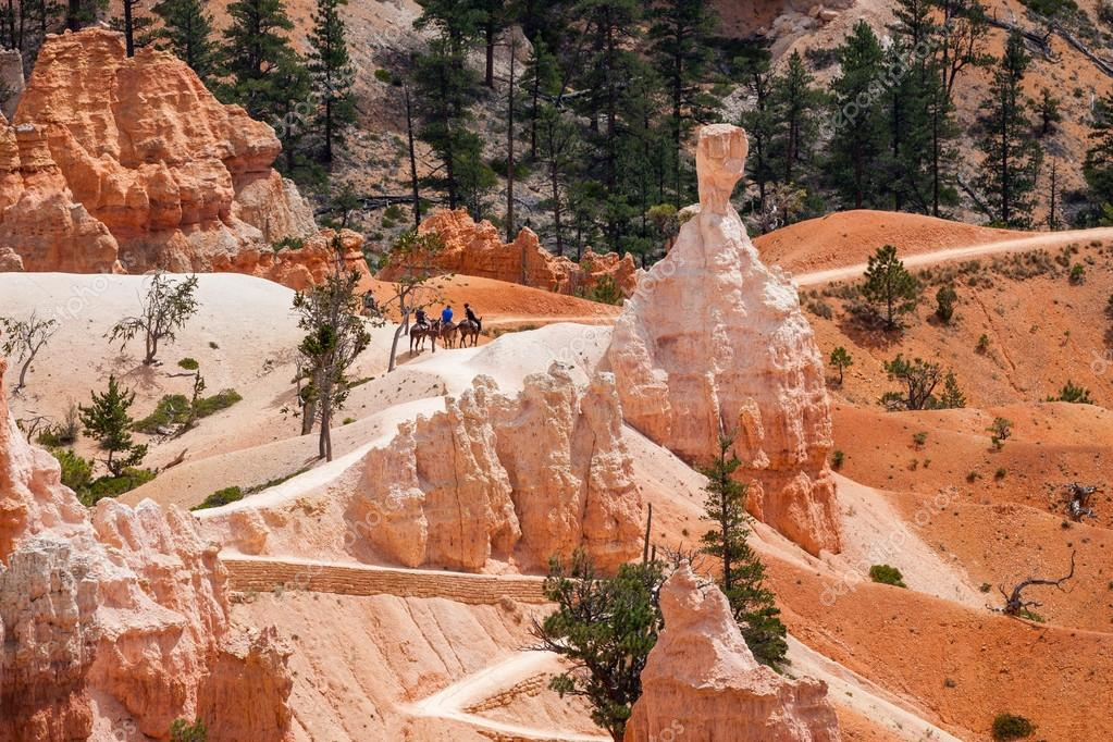 People riding on horses in Bryce Canyon