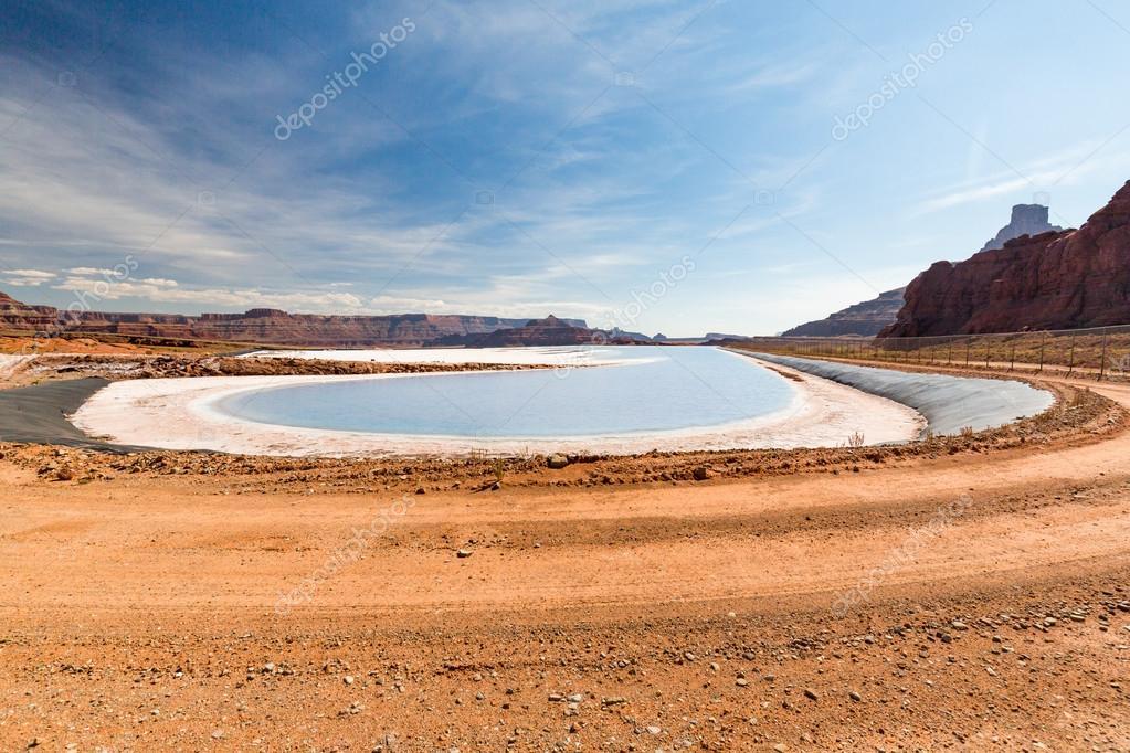 Potash pond on White Rim trail in Canyonlands