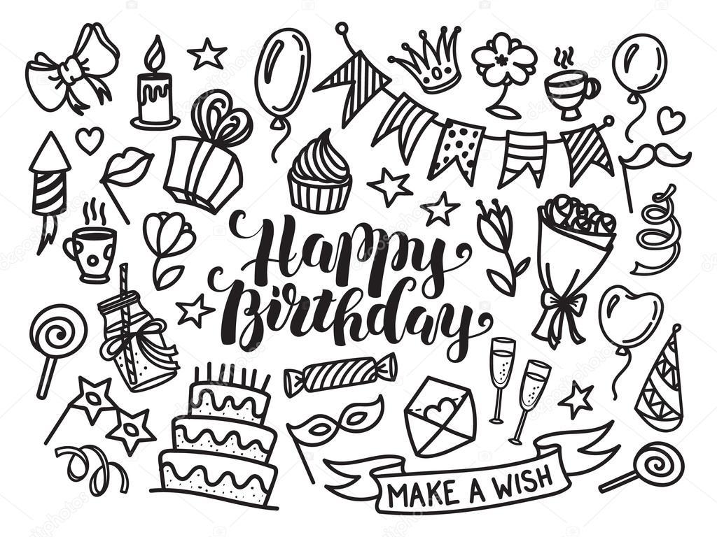 Letras feliz cumpleaños para colorear | Letras de feliz cumpleaños