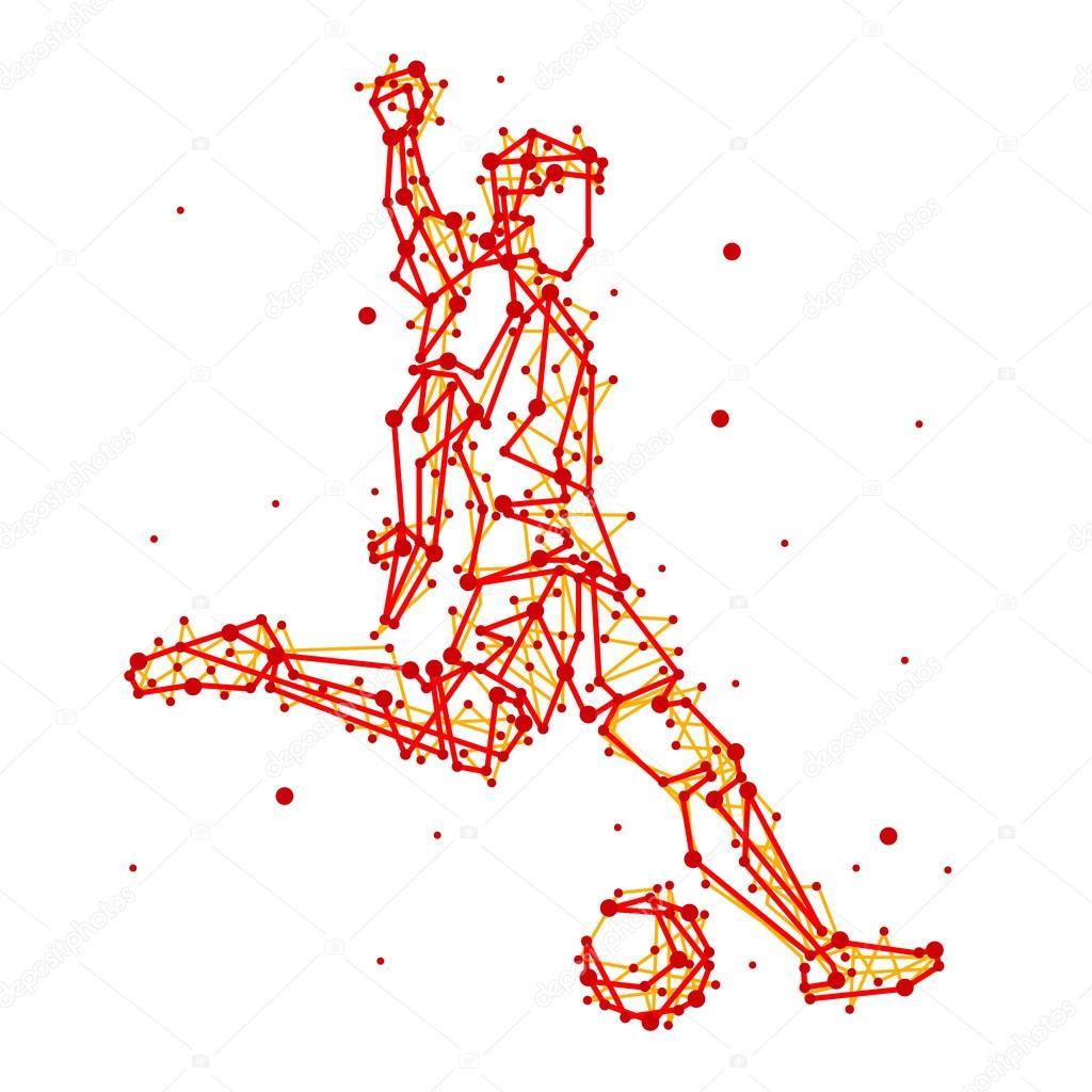 抽象的なサッカー選手のイラスト ストックベクター Fasjaka 117048748