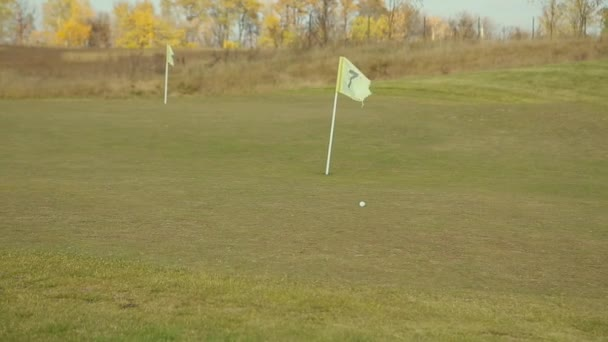 Na hřišti golf Golf kulička