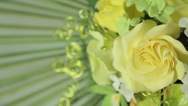 Chiuda l applique fiore bella primavera u video stock