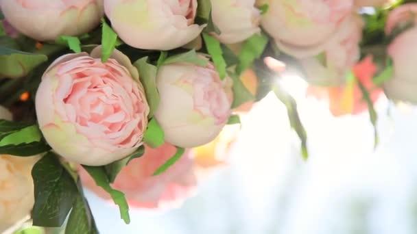 Halvány rózsaszín virágok csokor