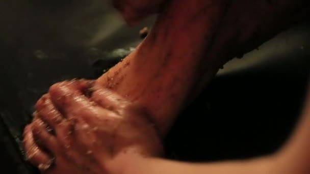 byliny pro masáž nohou