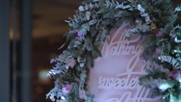 Svatební dekorace se slovy, přeje