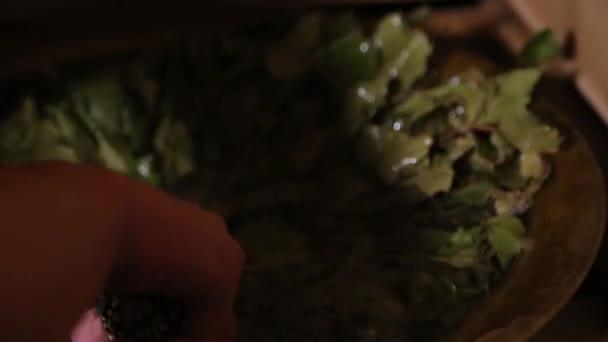 Dubové koště v sauně