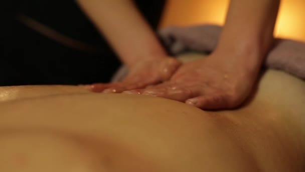 Masseur Makes Massage With Oil For Man Stock Video