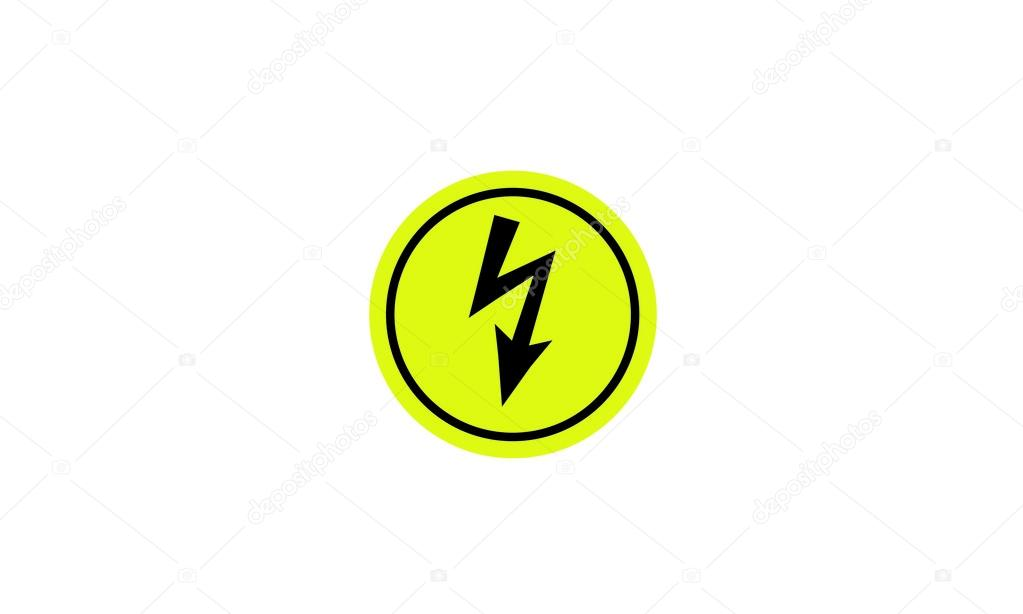 Warning Of Dangerous Electrical Voltage Circular Stock Vector