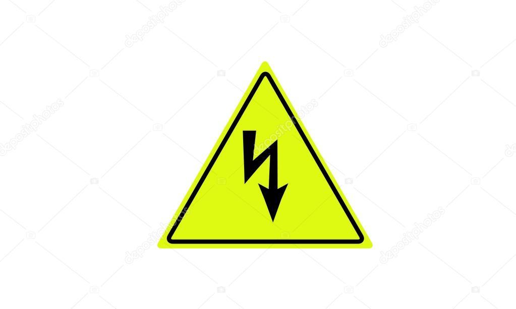 Warnung vor gefährlicher elektrischer Spannung — Stockvektor ...