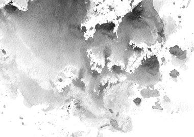 black & white watercolor background