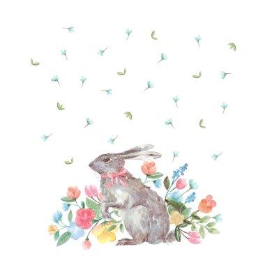 Decorative Easter bunny watercolor
