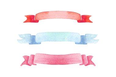 watercolor ribbon banner