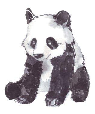 illustration drawing of a panda
