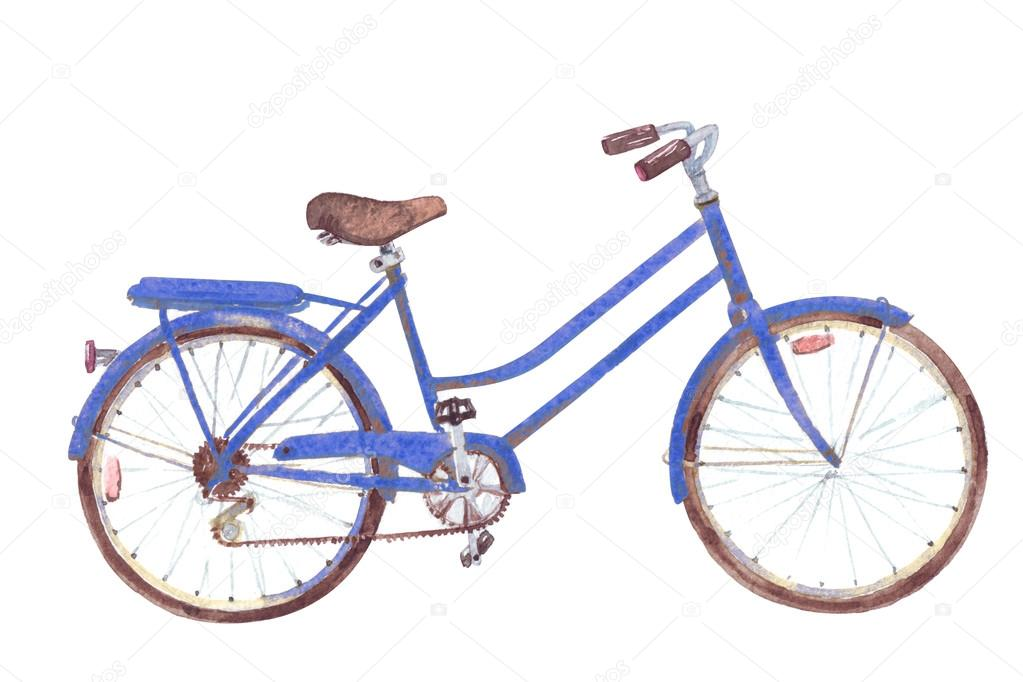 Blue retro bike