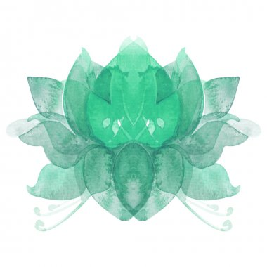watercolor flower lotus chakra symbol