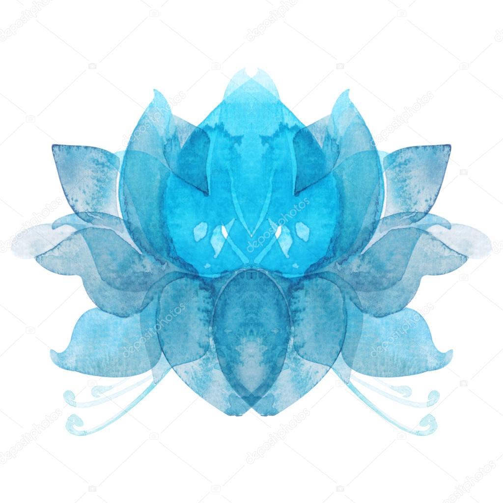 Watercolor Flower Lotus Chakra Symbol Stock Photo Soolimaail