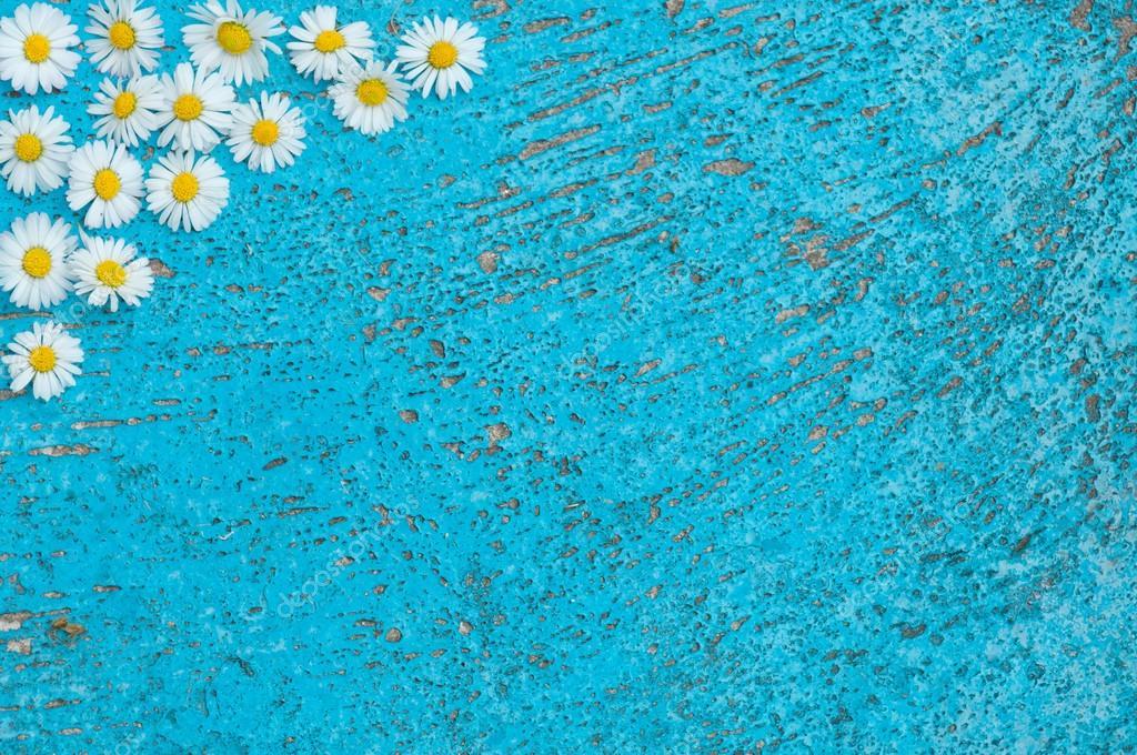 Luz Azul Viejo Con Textura Fondo Turquesa De Flores