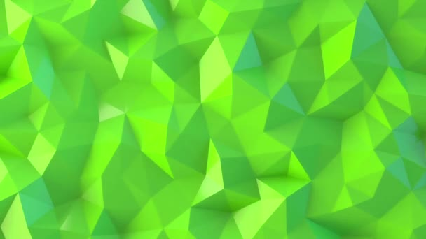 Green Low Poly Abstract Background.