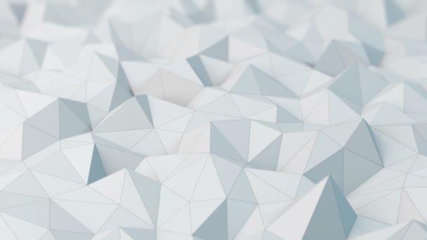 Bílé nízké poly abstraktní pozadí.