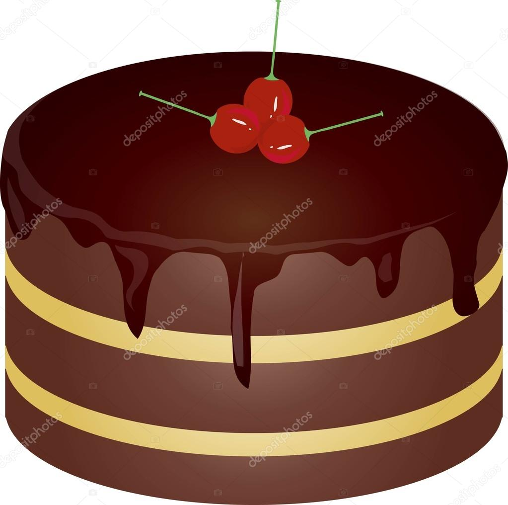 Remarkable Red Birthday Cake Designs Round Chocolate Cake With Red Cherries Funny Birthday Cards Online Hendilapandamsfinfo