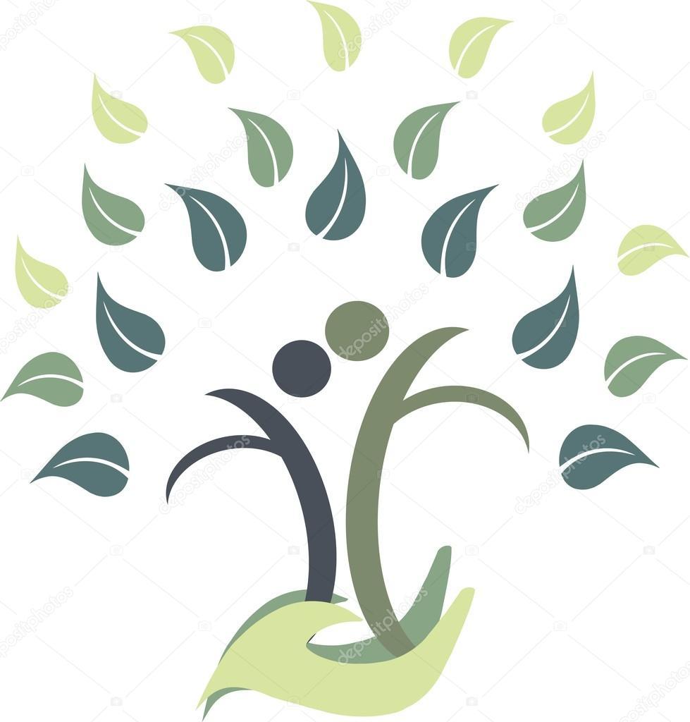 Beyaz Vektör çizim Logosuna Soy Ağacı Stok Vektör Katimusukr