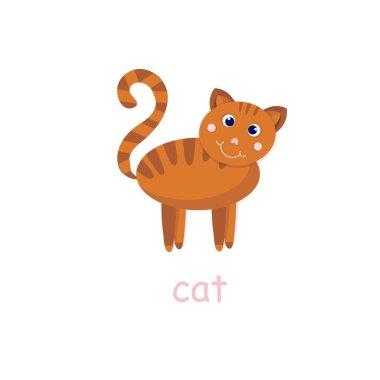 Cat icon 3D pet art design element for web, for print, for fabric print, for product design, for packing design icon