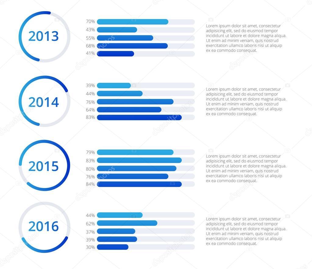 Timeline Infographics Vorlage. Bunte Vektor-illustration ...