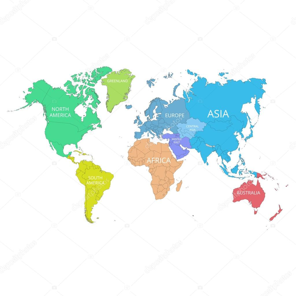 World Map With The Mark Of The Country. Africa. Vector Illustration. U2014 Stock
