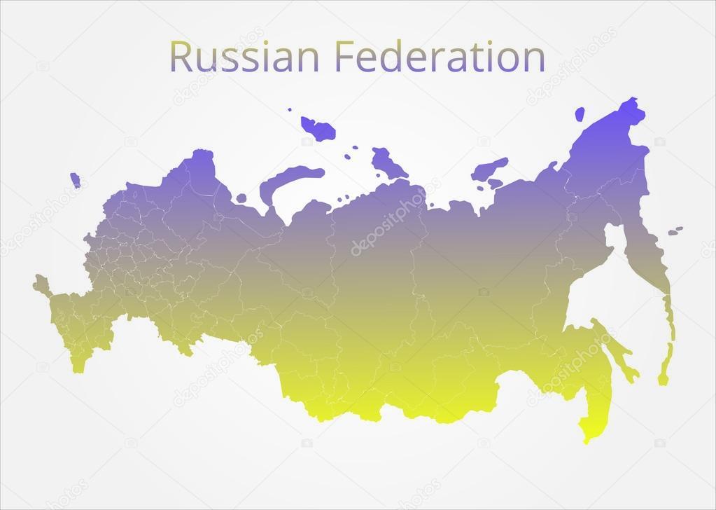 Russian Federation map. Vector illustration. — Stock Vector © rb ...