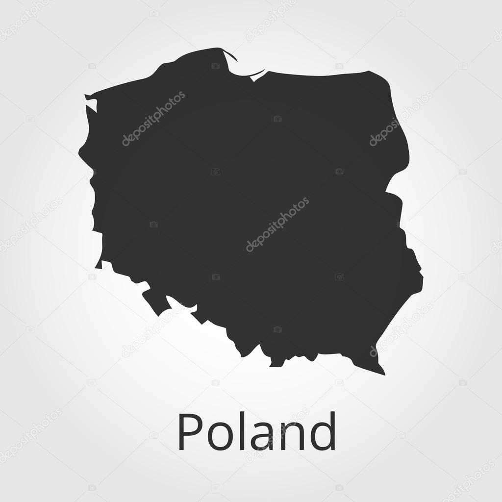 Poland map icon  Vector illustration  — Stock Vector © rb