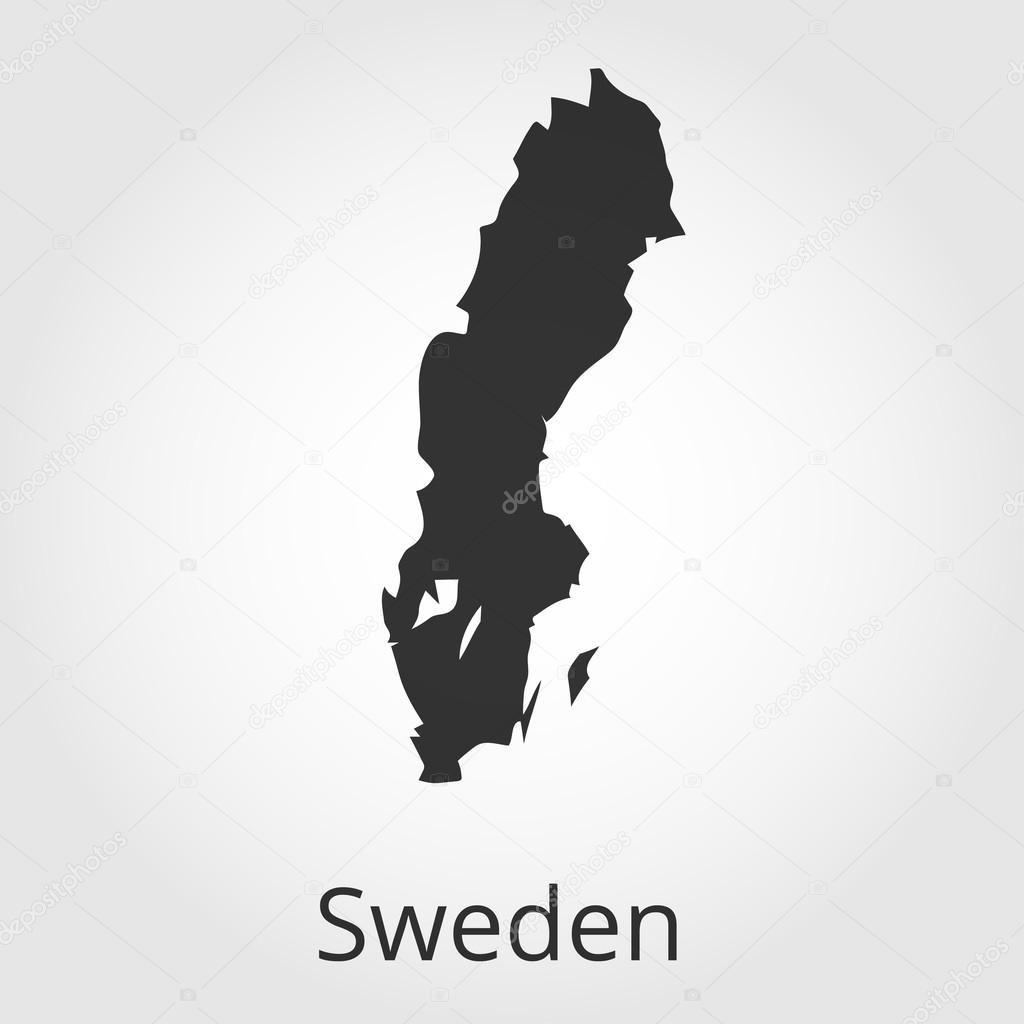 Sweden Map Icon Vector Illustration Stock Vector C Rb Octopus Vc