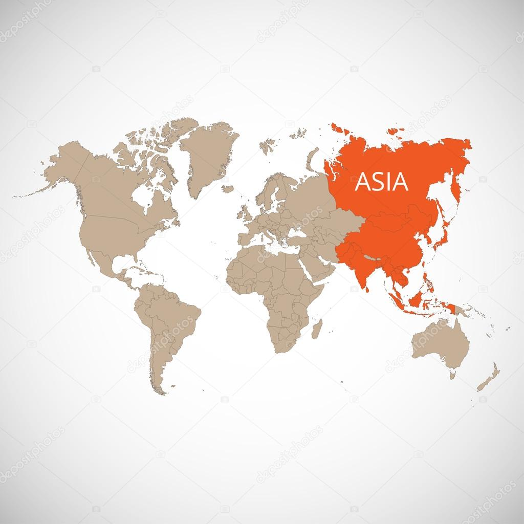 World map with the mark of the country asia vector illustration world map with the mark of the country asia vector illustration stock gumiabroncs Images