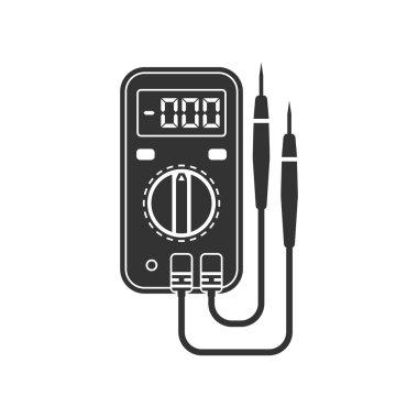 Digital multimeter. Electrical measuring instrument: voltage, am