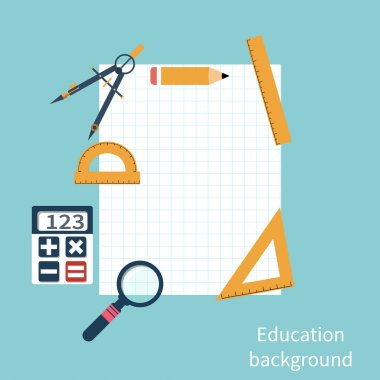 Drawing tools. Education background.