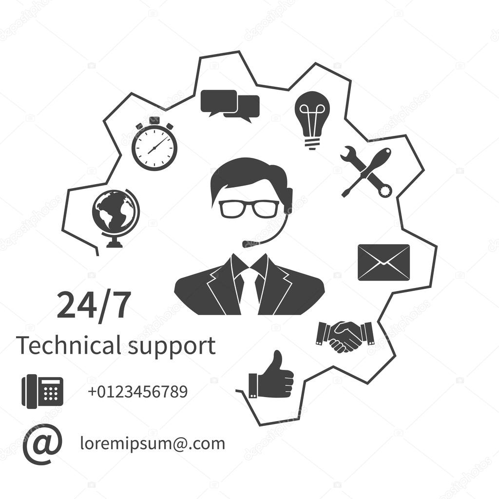 Customer service, technical support,
