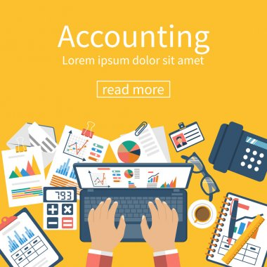 Accounting concept. Organization process.