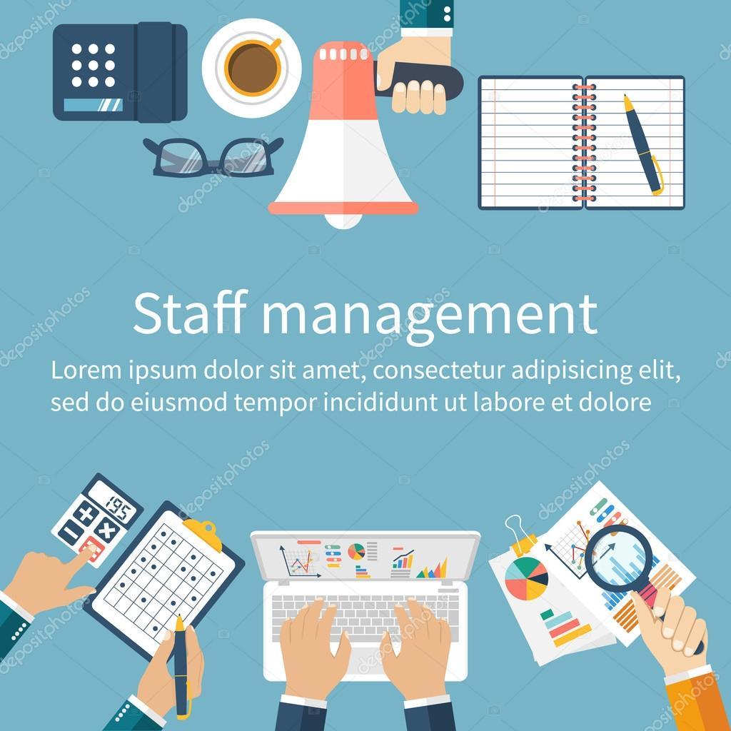 Gestión de personal. Concepto de gestión — Archivo Imágenes ...