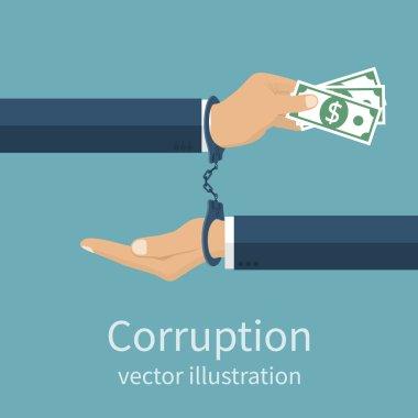 Corruption icon vector